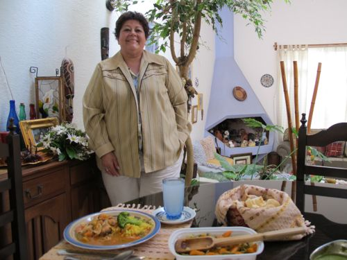Mealtime is a special occasion with Cristina Diaz, here in the beautiful and eclectic home she helped to design.