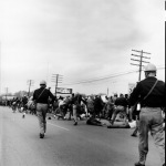 Images of police brutality against unarmed marchers shocked the world on what came to be known as Bloody Sunday. (courtesy Alabama Department of Public Safety)